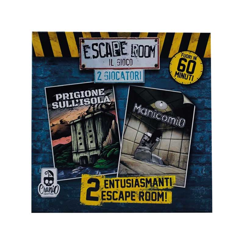 Escape Room 2 Giocatori Prgione sull'Isola e Manicomio